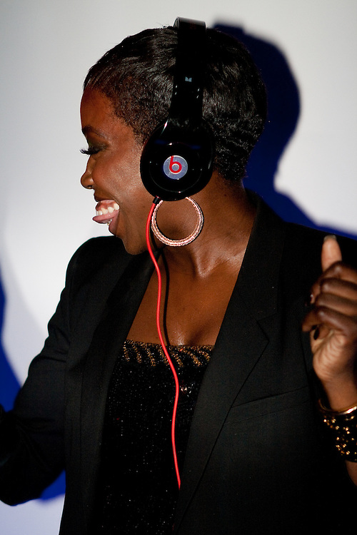 Estelle DJing at Red Bull Fashion Factory after party, London 2009.