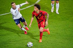 LEUVEN, BELGIUM - Sunday, November 15, 2020: Belgium's Axel Witsel (R) and England's Jordan Henderson during the UEFA Nations League Group Stage League A Group 2 match between England and Belgium at Den Dreef. Belgium won 2-0. (Pic by Jeroen Meuwsen/Orange Pictures via Propaganda)