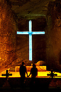 Colombia / Zipaquira / Cudinamarca Province / Salt Cathedral / Main Altar With Cross / Salt Mine