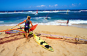 Windsurfing at Ho'okipa Beach, Maui, Hawaii USA