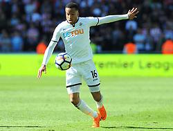Martin Olsson of Swansea City in action-Mandatory by-line: Nizaam Jones/JMP- 13/05/2018 - FOOTBALL - Liberty Stadium - Swansea, Wales - Swansea City v Stoke City - Premier League