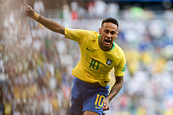 July 2, 2018 - Samara, Vazio, Russia - NEYMAR of BRASIL scored a goal during a match between Brazil and Mexico valid for the eighth round of World Cup finals in 2018, held at Arena Samara, Russia, Brazil won 2-0. (Credit Image: © Thiago Bernardes/Pacific Press via ZUMA Wire)