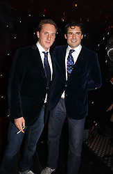Left to right, HARRY BECHER and EDWARD TAYLOR at The Christmas Cracker - an evening i aid of the Starlight Children's Charity held at Frankies, Knightsbridge on 13th December 2006.<br /><br />NON EXCLUSIVE - WORLD RIGHTS