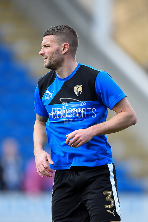 Notts County defender Carl Dickinson (3) during the EFL Sky Bet League 2 match between Chesterfield and Notts County at the b2net stadium, Chesterfield, England on 25 March 2018. Picture by Jon Hobley.