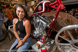 Party at Bill Dodge's Blings Cycle shop during Biketoberfest. Daytona Beach, FL, USA. Friday October 20, 2017. Photography ©2017 Michael Lichter.