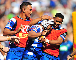 Cape Town-180317 Nizaam Carr's of the DHL Stomers scored a try that was cancelled after review against Blues in the Super Rugby tournament  at Newlands rugby stadium.Photograph:Phando Jikelo/African News Agency/ANA