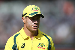 David Warner of Austrailia during the 5th ODI match between South Africa and Australia held at Newlands Stadium in Cape Town, South Africa on the 12th October  2016<br /> <br /> Photo by: Shaun Roy/ RealTime Images