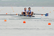 2005, World Rowing Championships, Nagaragawa International Regatta Course, Gifu, JAPAN: Monday  29.08.2005. CHI LM2- Bow Miguel Cerda Silver and Felipe Leal Atero.  © Peter Spurrier/Intersport Images - email images@intersport-images.com