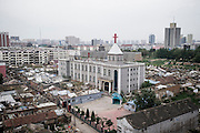 A Chinese Catholic Church is seen in Datong, China, July 23, 2014.<br /> <br /> Confucianism, Taoism and Buddhism are the three major religions in China. Temples and statues witness their ancient roots all over the Chinese country.<br /> <br /> © Giorgio Perottino
