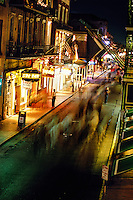 Bourbon Street at night, French Quarter, New Orleans, Louisiana USA
