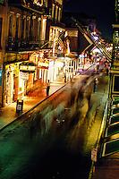 Bourbon Street at night, French Quarter, New Orleans, Louisiana USA