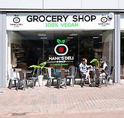 Hank's deli 100% vegan grocery shop in town centre, Ipswich, Suffolk, England, UK