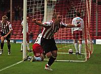 Photo: Tony Oudot.<br /> <br /> Brentford v Lincoln City. Coca Cola League 2. 27/10/2007.<br /> <br /> Sammy Moore of Brentford celebrates his winning goal