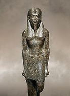 Ancient Egyptian statue of a Ptolomaic king in pharaonic regalia, granodiorire, Ptolemaic Period (332-30BC). Egyptian Museum, Turin. <br /> <br /> The Ptolomaic king is dressed a a pharaoh wearing a nemes headdress and a false beard . Drovetti Collection, Cat 1384 .<br /> <br /> If you prefer to buy from our ALAMY PHOTO LIBRARY  Collection visit : https://www.alamy.com/portfolio/paul-williams-funkystock/ancient-egyptian-art-artefacts.html  . Type -   Turin   - into the LOWER SEARCH WITHIN GALLERY box. Refine search by adding background colour, subject etc<br /> <br /> Visit our ANCIENT WORLD PHOTO COLLECTIONS for more photos to download or buy as wall art prints https://funkystock.photoshelter.com/gallery-collection/Ancient-World-Art-Antiquities-Historic-Sites-Pictures-Images-of/C00006u26yqSkDOM