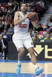 28.01.2016, Palacio de los Deportes, Madrid, ESP, FIBA, EL, Real Madrid vs Olympiacos PiraeusPlayoff, 5. Spiel, im Bild Real Madrid's Felipe Reyes // during the 5th Playoff match of the Turkish Airlines Basketball Euroleague between Real Madrid and Olympiacos Piraeus at the Palacio de los Deportes in Madrid, Spain on 2016/01/28. EXPA Pictures © 2016, PhotoCredit: EXPA/ Alterphotos/ Acero<br /> <br /> *****ATTENTION - OUT of ESP, SUI*****