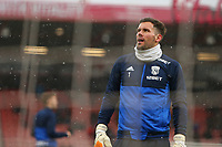 Football - 2017 / 2018 Premier League - AFC Bournemouth vs. West Bromwich Albion<br /> <br /> Ben Forster of West Bromwich Albion during the pre match warm up at Dean Court (Vitality Stadium) Bournemouth <br /> <br /> COLORSPORT/SHAUN BOGGUST