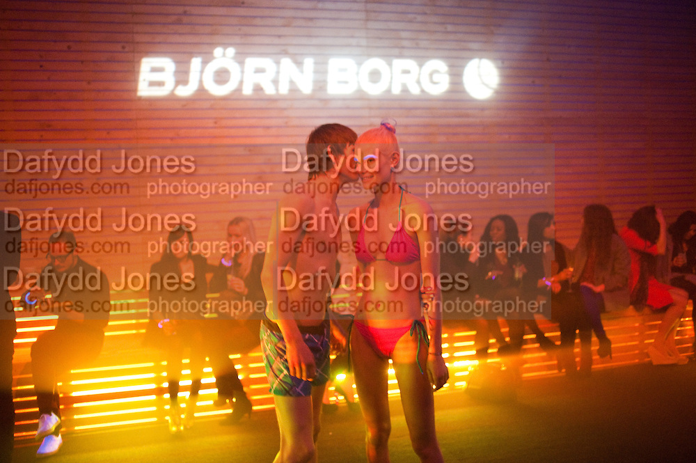 LUKE; BARBARA, ' We think you rock' Bjorn Borg launch. Battersea Power station. London. 16 February 2012.