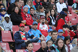 14-07-18 Johannesburg. Emirates Airlines Park. Emirates Lions vs Vodacom Blue Bulls. Bulls and Lions fans and supporters watch the 1st half. <br /> Picture: Karen Sandison/African News Agency (ANA)