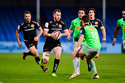 Max Bodilly of Exeter Braves is marked by Jonathan Burden  - Mandatory by-line: Ryan Hiscott/JMP - 01/04/2019 - RUGBY - Sandy Park Stadium - Exeter, England - Exeter Braves v Harlequins - Premiership Rugby Shield
