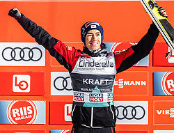 17.03.2019, Vikersundbakken, Vikersund, NOR, FIS Weltcup Skisprung, Raw Air, Vikersund, Siegerehrung, Raw Air Gesamtwertung, Herren, im Bild 2. Platz Stefan Kraft (AUT) // 2nd place Stefan Kraft of Austria during the men's allover winner Ceremony for the 4th Stage of the Raw Air Series of FIS Ski Jumping World Cup at the Vikersundbakken in Vikersund, Norway on 2019/03/17. EXPA Pictures © 2019, PhotoCredit: EXPA/ JFK