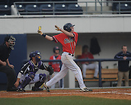 Ole Miss' Will Jamison (4) bats vs. Lipscomb at Oxford-University Stadium in Oxford, Miss. on Sunday, March 10, 2013. Ole Miss won 9-8. The Rebels improve to 16-1.