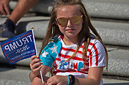 """Jordan Hunt with other participants  at a protest  against the 2020 election results at  Louisiana State Capitol in Baton Rouge on Nov 14,  one of <br /> many protests across the nation in support of Trump happening at the same time as the """"Million MAGA March"""" in Washington DC."""