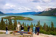 Canada, Yukon Territory, Carcross, Bove Island view on the South Klondike Highway,  Windy arm of Tagish Lake.