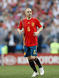 Andres Iniesta of Spain during the 2018 FIFA World Cup Russia round of 16 match between Spain and Russia at the Luzhniki Stadium on July 01, 2018 in Moscow, Russia