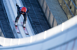 31.12.2017, Olympiaschanze, Garmisch Partenkirchen, GER, FIS Weltcup Ski Sprung, Vierschanzentournee, Garmisch Partenkirchen, Training, im Bild Karl Geiger (GER) // Karl Geiger of Germany during his Practice Jump for the Four Hills Tournament of FIS Ski Jumping World Cup at the Olympiaschanze in Garmisch Partenkirchen, Germany on 2017/12/31. EXPA Pictures © 2017, PhotoCredit: EXPA/ Jakob Gruber