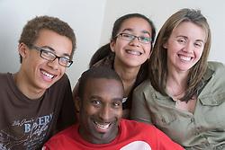 Portrait of a family,