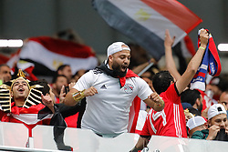 June 19, 2018 - Saint Petersburg, Russia - Egypt supporters during the 2018 FIFA World Cup Russia group A match between Russia and Egypt on June 19, 2018 at Saint Petersburg Stadium in Saint Petersburg, Russia. (Credit Image: © Mike Kireev/NurPhoto via ZUMA Press)