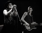 Bono and the Edge in concert - Wembley Stadium - Joshhua Tree tour 1987
