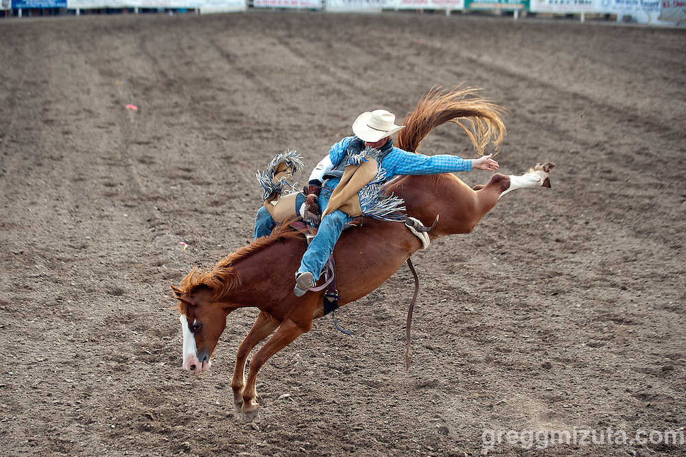 Bareback. 4th of July Rodeo, Vale Rodeo Arena, Vale, Oregon, July 4, 2015.