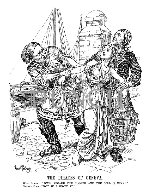 """The Pirates of Geneva. Wild Robert. """"Once aboard the Lugger and the girl is mine!"""" Gentle John. """"Not if I know it."""""""
