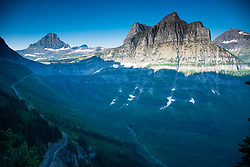 View from the Highline Trail, Glacier National Park, Montana, US