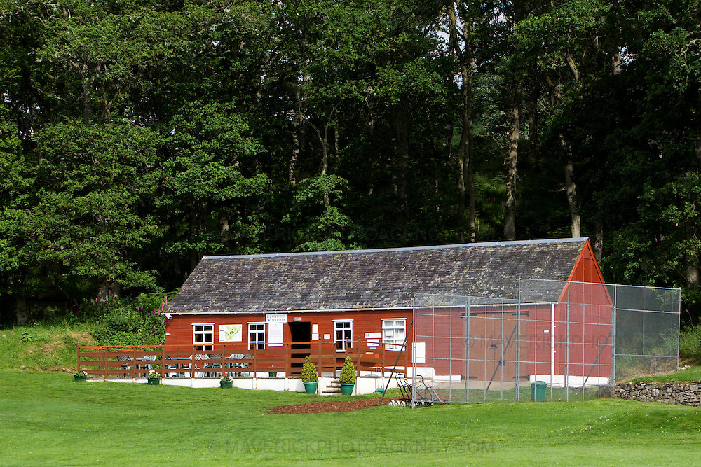 """General View of Strathtay Golf Club, club house...Strathtay Golf Club is like many small rural golf curses in Scotland which employ an """"honesty box"""" system where golfers deposit money in a  box rather than go to the expense of hiring a full time person to collect green fees...Picture Michael Hughes/Maverick."""