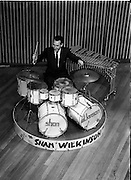 16/05/1956<br /> 05/16/1956<br /> 16 May 1956<br /> The new Sham Wilkinson Band at 23 Parliament Street, Dublin. The drummer.