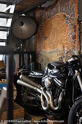 Visit to Hide Motorcycles' Hideya Togashi's shop in Kawasaki, Japan shop during my Japan tour after Mooneyes. Monday, December 3, 2018. Photography ©2018 Michael Lichter.