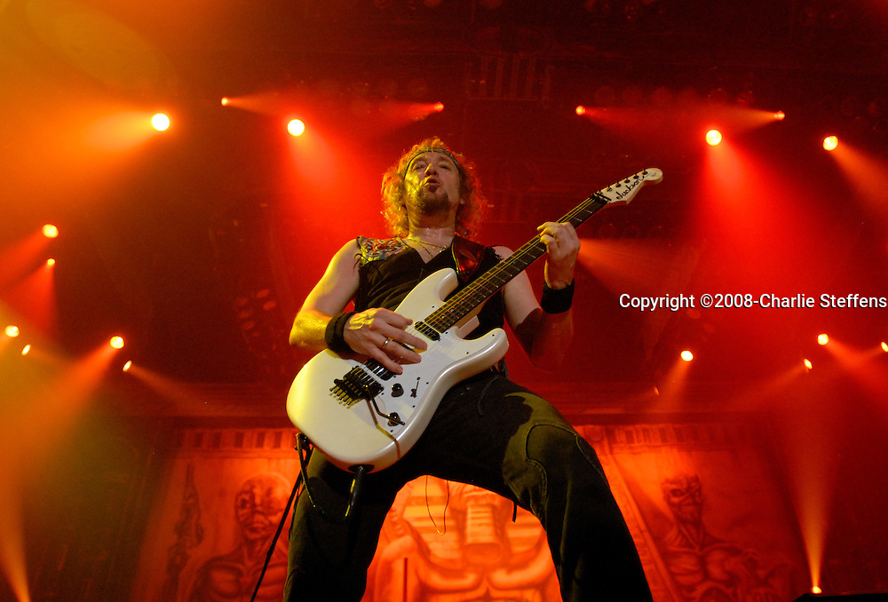 Adrian Smith<br /> February 19, 2008<br /> Iron Maiden<br /> The Forum<br /> Inglewood, California
