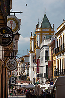 Streets in Ronda, a hill town known for its white buildings, are narrow, clean and paved by cobblestone.