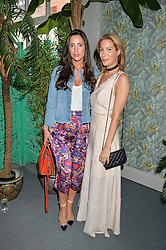 Left to right, LILY FORTESCUE and LAURA PRADELSKA at the launch of Matthew Williamson's 'Sea to Shore' range for The Outnet.com held at the Matthew Williamson's showroom, Studio 10-11, 135 Salusbury Road, London NW6 on 5th May 2016