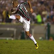 Leandro Euzebio, Fluminense, shoots during the Fluminense FC V CR Vasco da Gama Futebol Brasileirao League match at the Maracana, Jornalista Mário Filho Stadium,  The match ended in a 2-2 draw. Rio de Janeiro,  Brazil. 22nd August 2010. Photo Tim Clayton..