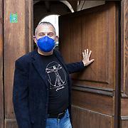 Piccolo Teatro Grassi, Milano, Italia, 31 Marzo 2021. Massimo Mennuni, 50 anni, scenografo e illuminotecnico.