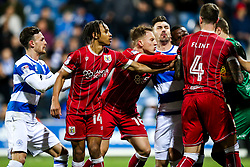 Alex Smithies of Queens Park Rangers looks to slow down play after Bobby Reid of Bristol City scores from the penalty spot to make it 1-1 - Rogan/JMP - 23/12/2017 - Loftus Road - London, England - Queens Park Rangers v Bristol City - Sky Bet Championship.