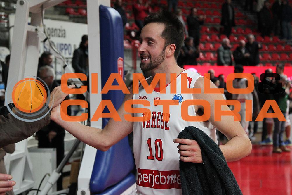 DESCRIZIONE: Varese FIBA Europe cup 2015-16 <br /> Openjobmetis Varese vs Sodertalje Kings<br /> GIOCATORE: Daniele Cavaliero<br /> CATEGORIA: postgame esultanza<br /> SQUADRA: Openjobmetis Varese<br /> EVENTO: FIBA Europe Cup 2015-2016<br /> GARA: EA7 Openjobmetis Varese Sodertalje Kings<br /> DATA: 22/12/2015<br /> SPORT: Pallacanestro<br /> AUTORE: Agenzia Ciamillo-Castoria/A. Ossola<br /> Galleria: FIBA Europe Cup 2015-2016<br /> Fotonotizia: Varese FIBA Europe Cup 2015-16 <br /> Openjobmetis Varese Sodertalje Kings