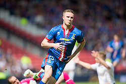 Inverness Caledonian Thistle's Marley Watkins scoring their first goal. Falkirk v Inverness CT in the Scottish Cup final at Hampden.