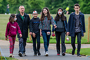 """People enjoy the park just before a so called 'Mass' Gathering takes place in Hyde Park as a small group of protestors say no to the """"coronavirus bill"""" and no to the """"unlawful lockdown"""". The 'lockdown' continues for the Coronavirus (Covid 19) outbreak in London."""