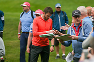 Michael Carrick signing autographs during the Celebrity Pro-Am day at Wentworth Club, Virginia Water, United Kingdom on 23 May 2018. Picture by Phil Duncan.