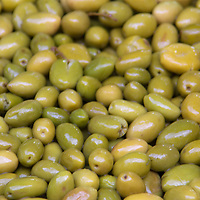 Africa, Morocco, Marrakech. Traditional Moroccan green olives.