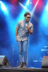 © Licensed to London News Pictures. 16/07/2015<br /> Rochester Castle Concerts,Rochester,Kent<br /> blue singing.<br /> Simon Webbe<br /> (Byline:Grant Falvey/LNP)